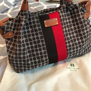 Kate Spade large Stevie in brown and red